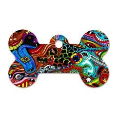 Vector Art Pattern Dog Tag Bone (two Sides) by BangZart