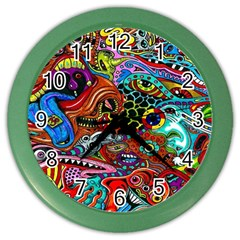 Vector Art Pattern Color Wall Clocks by BangZart