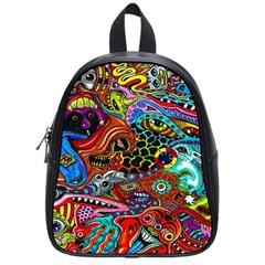 Vector Art Pattern School Bags (small)  by BangZart
