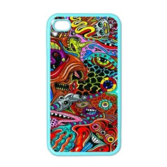 Vector Art Pattern Apple Iphone 4 Case (color)