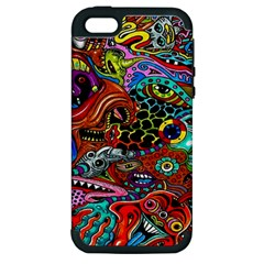 Vector Art Pattern Apple Iphone 5 Hardshell Case (pc+silicone)