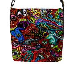 Vector Art Pattern Flap Messenger Bag (l)  by BangZart
