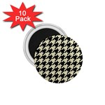 HOUNDSTOOTH2 BLACK MARBLE & BEIGE LINEN 1.75  Magnets (10 pack)