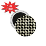 HOUNDSTOOTH2 BLACK MARBLE & BEIGE LINEN 1.75  Magnets (100 pack)