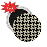 HOUNDSTOOTH2 BLACK MARBLE & BEIGE LINEN 2.25  Magnets (10 pack)