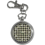 HOUNDSTOOTH2 BLACK MARBLE & BEIGE LINEN Key Chain Watches