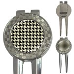 HOUNDSTOOTH2 BLACK MARBLE & BEIGE LINEN 3-in-1 Golf Divots