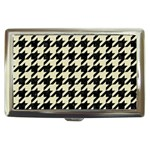 HOUNDSTOOTH2 BLACK MARBLE & BEIGE LINEN Cigarette Money Cases