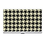 HOUNDSTOOTH2 BLACK MARBLE & BEIGE LINEN Business Card Holders