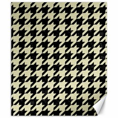 Houndstooth2 Black Marble & Beige Linen Canvas 8  X 10  by trendistuff