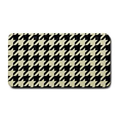 Houndstooth2 Black Marble & Beige Linen Medium Bar Mats by trendistuff