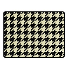 Houndstooth2 Black Marble & Beige Linen Fleece Blanket (small) by trendistuff