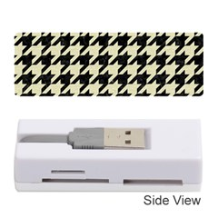 Houndstooth2 Black Marble & Beige Linen Memory Card Reader (stick)  by trendistuff