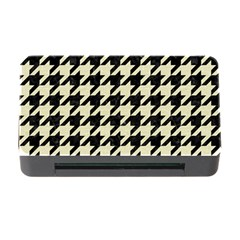 Houndstooth2 Black Marble & Beige Linen Memory Card Reader With Cf by trendistuff