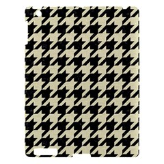 Houndstooth2 Black Marble & Beige Linen Apple Ipad 3/4 Hardshell Case by trendistuff