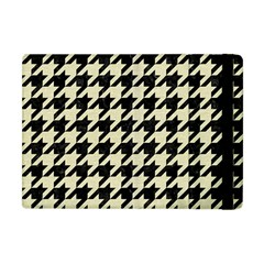 Houndstooth2 Black Marble & Beige Linen Apple Ipad Mini Flip Case by trendistuff