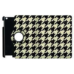 Houndstooth2 Black Marble & Beige Linen Apple Ipad 3/4 Flip 360 Case by trendistuff