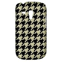 Houndstooth2 Black Marble & Beige Linen Galaxy S3 Mini by trendistuff