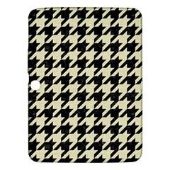 Houndstooth2 Black Marble & Beige Linen Samsung Galaxy Tab 3 (10 1 ) P5200 Hardshell Case  by trendistuff