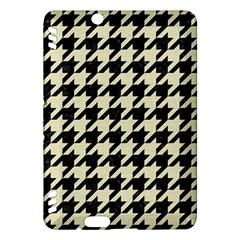 Houndstooth2 Black Marble & Beige Linen Kindle Fire Hdx Hardshell Case by trendistuff