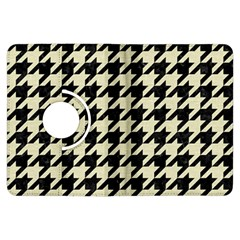 Houndstooth2 Black Marble & Beige Linen Kindle Fire Hdx Flip 360 Case by trendistuff
