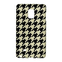 Houndstooth2 Black Marble & Beige Linen Galaxy Note Edge by trendistuff