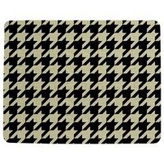 Houndstooth2 Black Marble & Beige Linen Jigsaw Puzzle Photo Stand (rectangular) by trendistuff