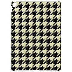 Houndstooth2 Black Marble & Beige Linen Apple Ipad Pro 12 9   Hardshell Case by trendistuff