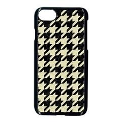 Houndstooth2 Black Marble & Beige Linen Apple Iphone 7 Seamless Case (black) by trendistuff