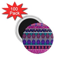 Tribal Seamless Aztec Pattern 1 75  Magnets (100 Pack)