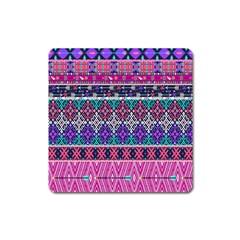 Tribal Seamless Aztec Pattern Square Magnet by BangZart