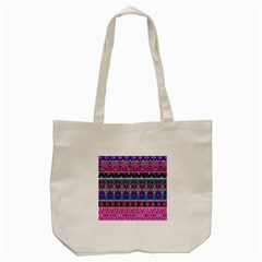 Tribal Seamless Aztec Pattern Tote Bag (cream) by BangZart