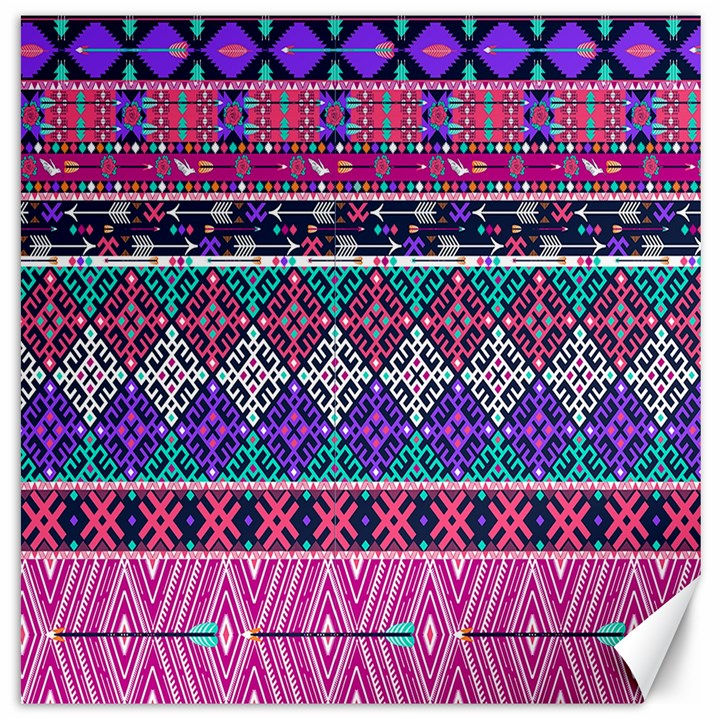 Tribal Seamless Aztec Pattern Canvas 16  x 16