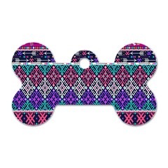 Tribal Seamless Aztec Pattern Dog Tag Bone (two Sides) by BangZart