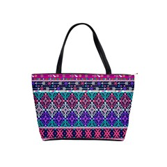 Tribal Seamless Aztec Pattern Shoulder Handbags by BangZart
