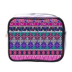 Tribal Seamless Aztec Pattern Mini Toiletries Bags