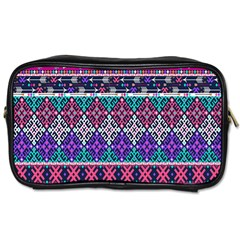 Tribal Seamless Aztec Pattern Toiletries Bags 2 Side