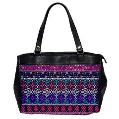 Tribal Seamless Aztec Pattern Office Handbags by BangZart