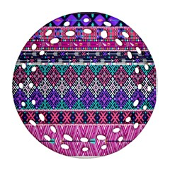 Tribal Seamless Aztec Pattern Ornament (round Filigree)