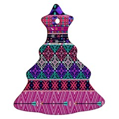 Tribal Seamless Aztec Pattern Christmas Tree Ornament (two Sides)