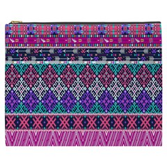 Tribal Seamless Aztec Pattern Cosmetic Bag (xxxl)