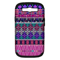 Tribal Seamless Aztec Pattern Samsung Galaxy S Iii Hardshell Case (pc+silicone)