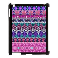 Tribal Seamless Aztec Pattern Apple Ipad 3/4 Case (black) by BangZart