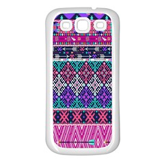 Tribal Seamless Aztec Pattern Samsung Galaxy S3 Back Case (white)