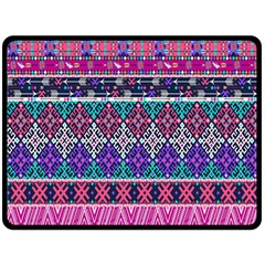 Tribal Seamless Aztec Pattern Double Sided Fleece Blanket (large)  by BangZart