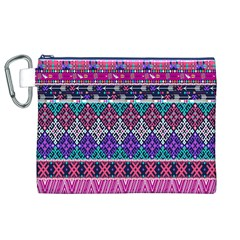 Tribal Seamless Aztec Pattern Canvas Cosmetic Bag (xl) by BangZart