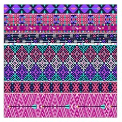 Tribal Seamless Aztec Pattern Large Satin Scarf (square)