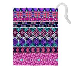 Tribal Seamless Aztec Pattern Drawstring Pouches (xxl)