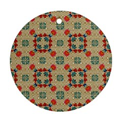 Traditional Scandinavian Pattern Ornament (round)