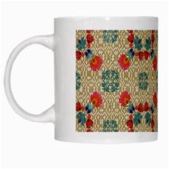 Traditional Scandinavian Pattern White Mugs by BangZart